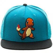 Oficial NINTENDO's Pokemon Charmander Bloque De Color Azul Snapback Cap (nuevo)