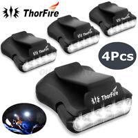 1/2/4pc ThorFire Clip-on Hat Light 5 LED Headlamp Rotatable Ball Cap