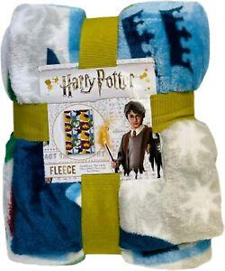 Harry Potter Licensed Fleece Blanket Bed Throw Hogwarts Badges