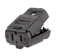 Leviton 15A, 125V, Connector, Straight Blade, Residential Grade, Black