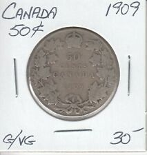 CANADA 50 CENTS 1909 - G/VG