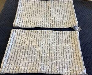 New TWO Restoration Hardware Savona Chenille Moroccan Stripe Pillow Covers $399