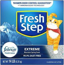 Fresh Step Extreme Scented Cat Litter Clumping Odor Control Cat Litter 14 lbs