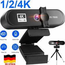 4K HD Webcam Kamera USB Mit Mikrofon für PC Computer Laptop Video Chat Konferenz