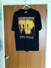 VINTAGE SOUNDGARDEN Tour Camicia in basso a testa 1996 Bootleg Chris Cornell Grunge XL