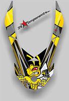 SKI DOO REV XP SNOWMOBILE SLED GRAPHICS DECAL Sticker Hood Killer Bee Wasp