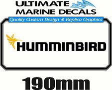 Humminbird Fishing Boat Tacklebox Sticker Decal, 190 x 25mm