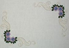 Lilac Filigree Embroidered Quilt Label Customize for quilt tops or blocks