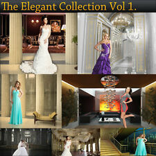 Digital Photorealistic Render Backgrounds Backdrops ELEGANT COLLECTION VOL 1