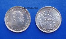 MONEDA DE 50 pesetas 1957 *59 Franco S/C - UNC
