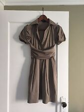 BCBG taupe shirt dress size 2