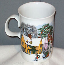 Dunoon COUNTRY VILLAGE WINTER Porcelain Mug Cup made in Scotland