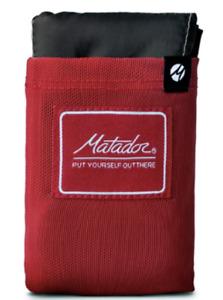 NIB  Matador Pocket Blanket Red Hiking packable 63 x 44 inches 3.5 ounce
