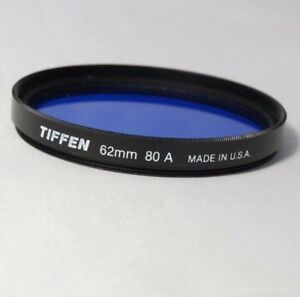 TIFFEN 62MM 80A Blue genuine USA used filter