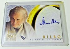 LORD OF THE RINGS IAN HOLM BILBO BAGGINS AUTO CARD RETURN KING LOTR SIGNED TOPPS