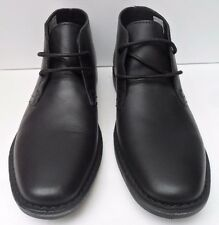Mens Red Tape Gobi Black Leather Lace Up Ankle Boots - Size UK 10 EUR 44