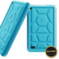 Case For Amazon Fire 7 2017 Tablet Flexible Shockproof Silicone Cover Blue
