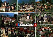Swiss Miniatur Meldie LUGANO Schlösser Schloss Motive color AK Schweiz Tessin
