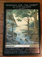 Drawings For The Hobbit Exhibition Jrr Tolkien 50th Anniversary Framed Poster