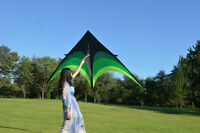 Large Delta Kite For Kids And Adults Single Line Easy Fly Handle To Kite w/ Q1Z7