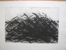 "Max Uche Etching 1979 "" elbuferbäume "" Dated, Titled, AUTOGRAPHED"