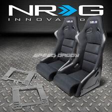 NRG FIBERGLASS BUCKET RACING SEATS+T304 STEEL MOUNT BRACKET FOR MK4 GOLF/JETTA(Fits: Golf)