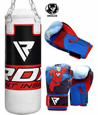 RDX Kids Unfilled Punching Bag Junior Boxing Set Chain Gloves MMA Training CA