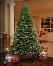 7.5 Artificial Christmas Tree Aspen Fir Pre Lit LED Lights White Multi Color