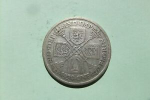 George V.  silver Florin 1929.  Not cleaned or polished.