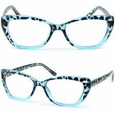 Damen Brille Kunststoff Brillengestell brillenfassung Fassung Schmetterling Blau