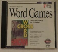 Word Games for PC-Cross Word/Hangman/Search a Word Puzzles CD Rom