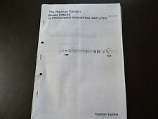 Service Manual Harman Kardon  Ultrawideband Integrated Amplifier PM 625