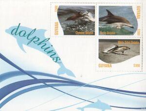 Guyana 2012 Fauna Dolphins Delfine sheetlet II
