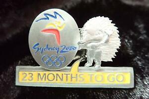Ltd. Ed #3418 SYDNEY 2000 OLYMPIC GAMES 23 MONTHS TO GO COUNTDOWN PEWTER PIN