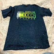 Vintage Total Hawaiian Eclipse 1991 Mens Large Black Neon