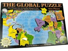 The Global Puzzle 600 Piece Puzzle Build & Learn The World Complete Homeschool
