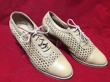 Pilar Abril Tan Brown Leather Lace Up  Womens shoes size 8 JBY