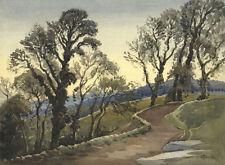 Künstlerische Aquarell-Malereien im Realismus-Kunststil von 1900-1949