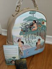 Loungefly Disney Pocahontas Scenery Mini Backpack and Wallet New With Tags