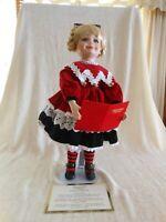 """Westminster Porcelain Doll Christmas Carols 17 1/2"""" w/c.o.a."""