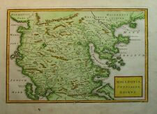 Antique Map of Macedonia and North Greece by Christoph Cellarius 1789