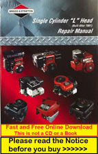 Briggs & Stratton Single Cylinder L Head Repair Service Workshop Manual 270962