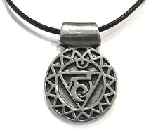 Throat Chakra of Purification of Expression Pewter Pendant Charm Necklace