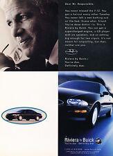 1997 Buick Riviera Original Advertisement Car Print Ad J351