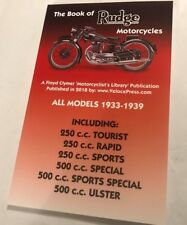 BOOK OF THE RUDGE ULSTER SPORTS SPECIAL RAPID & TOURIST POCKET MANUAL 1933-1939