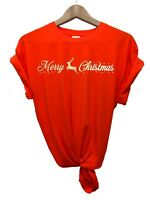 Unisex CHRISTMAS T-SHIRT TOP LADIES GIRL NOVELTY X-MAS SLOGAN TSHIRT FDC