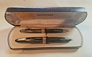 Sheaffer Tuckaway 14K Nib Fountain Pen Vac Fill Alligator Like Hard Shell Case