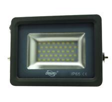 FARO LED SMD SLIM FOCO EXTERIOR IP65 LUZ 6000K BLANCO FRÍO GRIS 20W