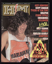 HM HEAVY METAL 63/1989 TESLA VIXEN SCORPIONS HOLY TERROR BULLDOZER DEEP PURPLE