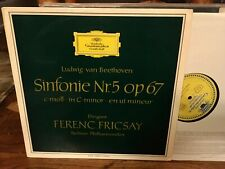 DGG 138-813: Fricsay, Beethoven Sym. #5, ED1 red stereo NM pristine